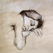 Innocence, 18x24, Charcoal on Paper, June 2011